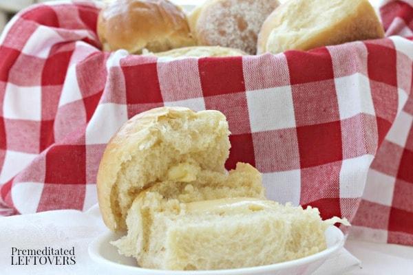 easy homemade dinner roll recipe