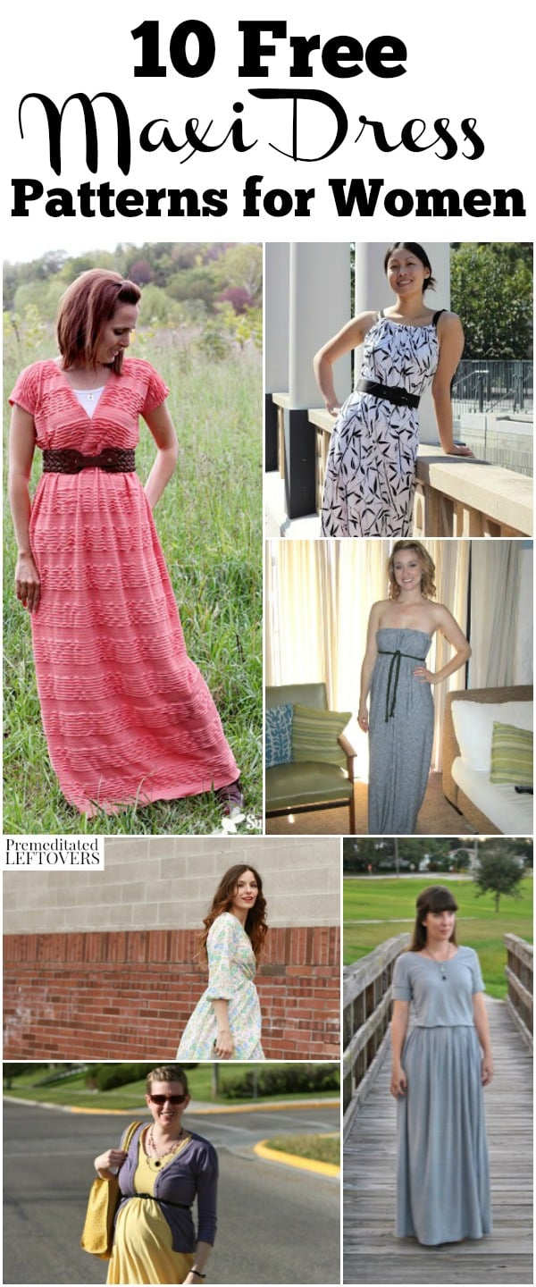 10 Free Maxi Dress Patterns And Sewing Tutorials
