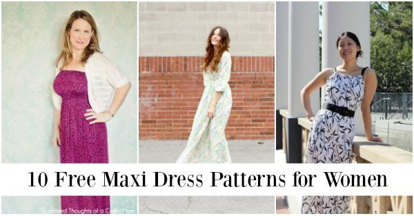 10 Free Maxi Dress Patterns for Women