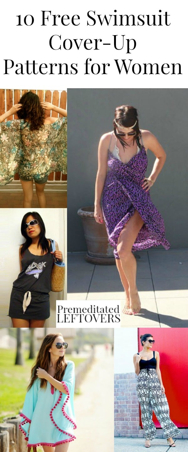 Looking for a swimsuit cover? Sew one of these Free Swimsuit Cover-Up Patterns for Women. Includes swimsuit coverup sewing patterns & swim cover tutorials.