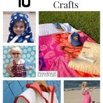 10 Fun Free Beach Towel Crafts including beach towel beach bags, hooded towels, kid's beach towel robes and more free beach towel craft ideas.