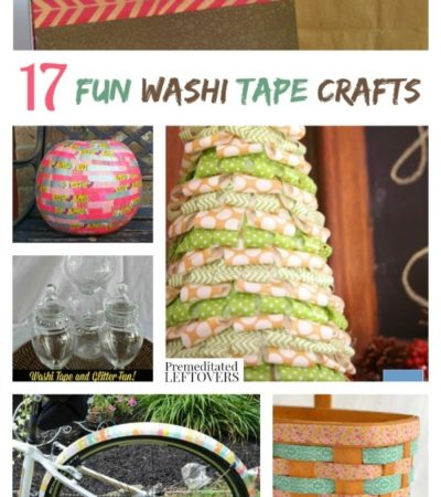 """17 Fun Washi Tape Crafts including easy washi tape crafts, washi tape decor crafts and the answer to the question, """"What is Washi Tape""""?"""