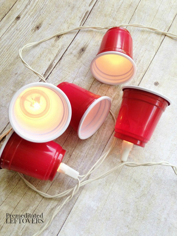 DIY Mini Red Solo Cup Party Lights