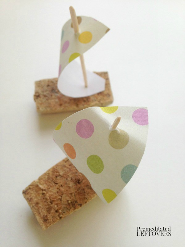 How to Make Wine Cork Sail Boat for Kids