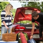 How to Save Money on Camping Gear including tips for getting out door gear cheap, how to save money while camping and how to camp for cheap.