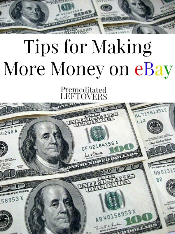 5 Tips for Making More Money on eBay, including tips for getting more exposure for your listings, making your listings more appealing, and more.