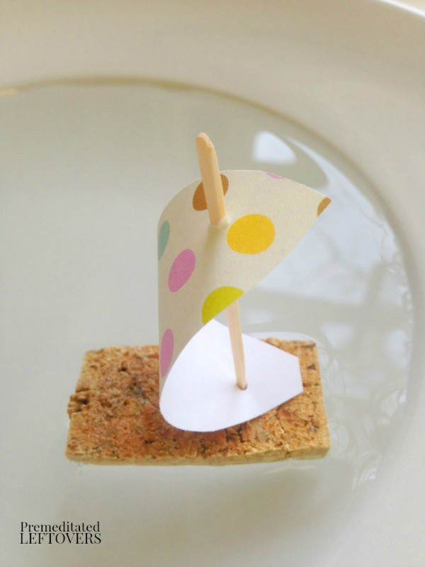 Wine Cork Sail Boat Craft for Kids