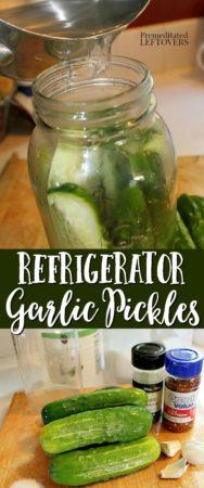 garlic refrigerator pickles