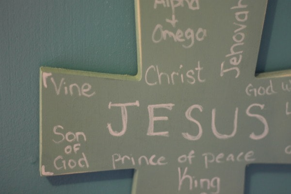 Names Of Jesus Cross Craft