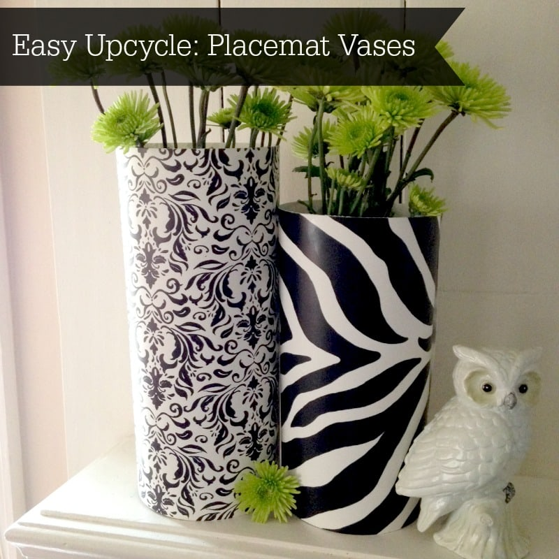 Upcycled Placemat Vase Tutorial