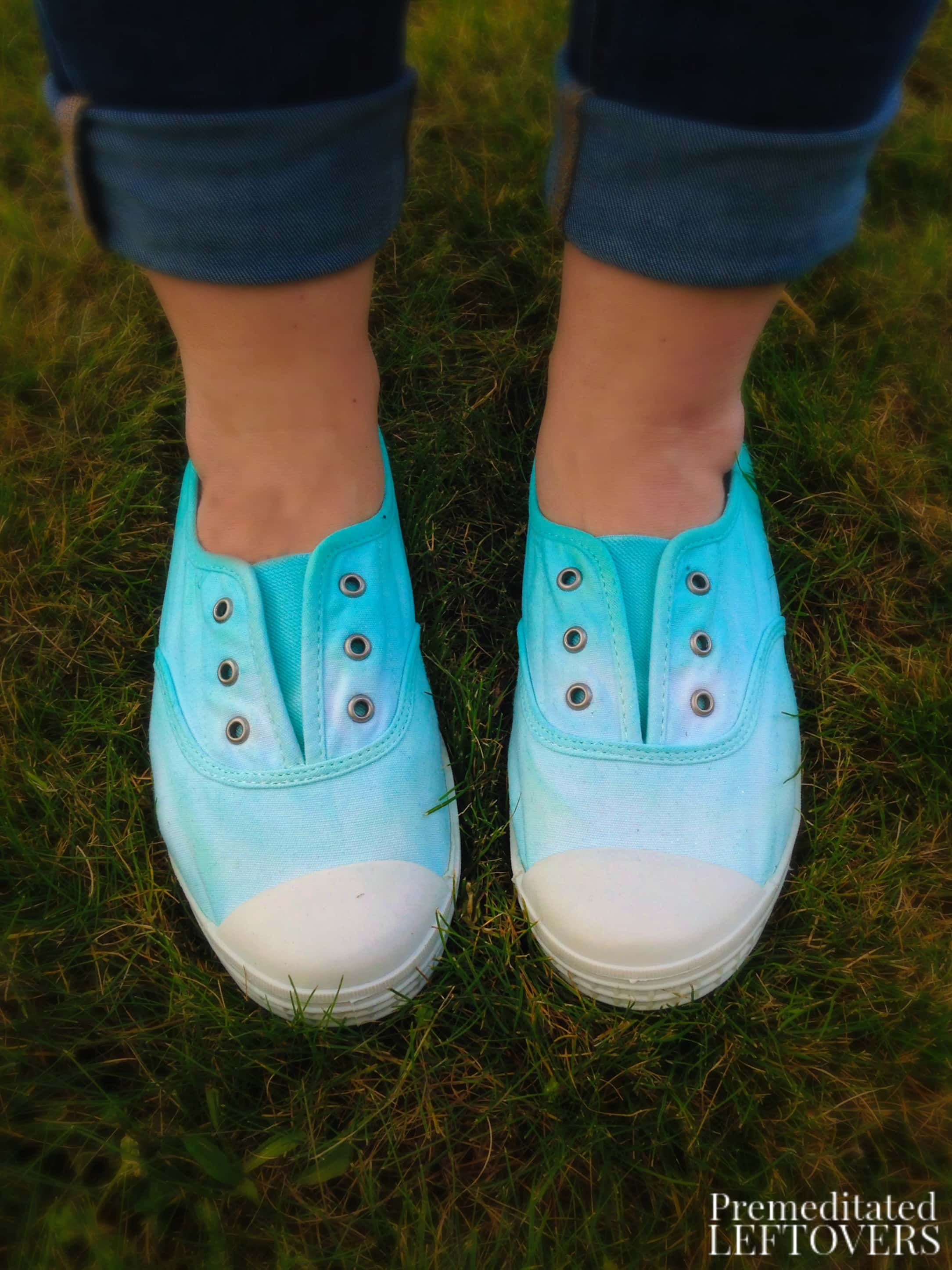 DIY Ombre Dyed Canvas Shoes