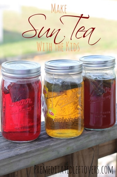 how to make sun tea without the sun