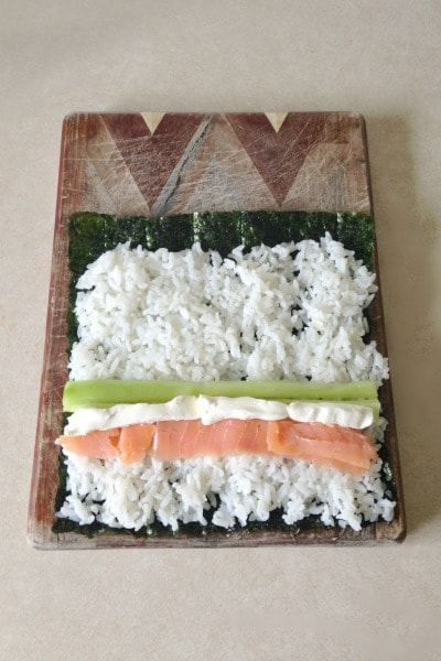 how to make sushi rolls without nori
