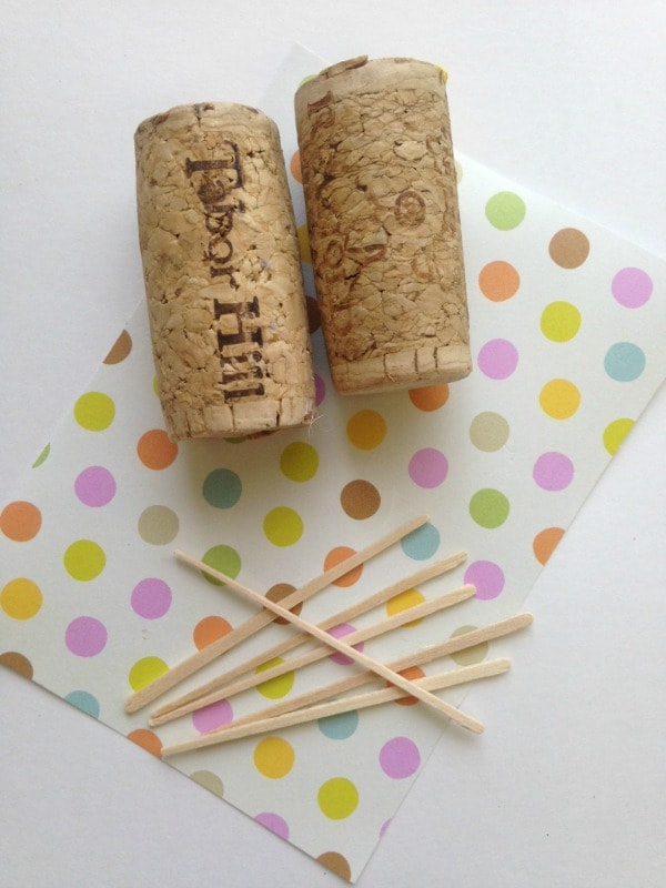 Supplies for wine cork sail boat crafts for kids