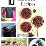 10 Awesome Elderberry Recipes including how to make elderberry syrup, how to grow elderberries, the benefits of elderberries and how to use elderberries.