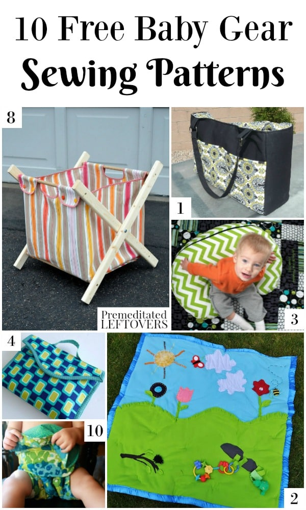 10 Free Baby Gear Sewing Patterns