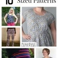 10 Free Plus Size Patterns including free plus size dress patterns, plus sized top patterns, plus size skirt patterns and other free plus size patterns.