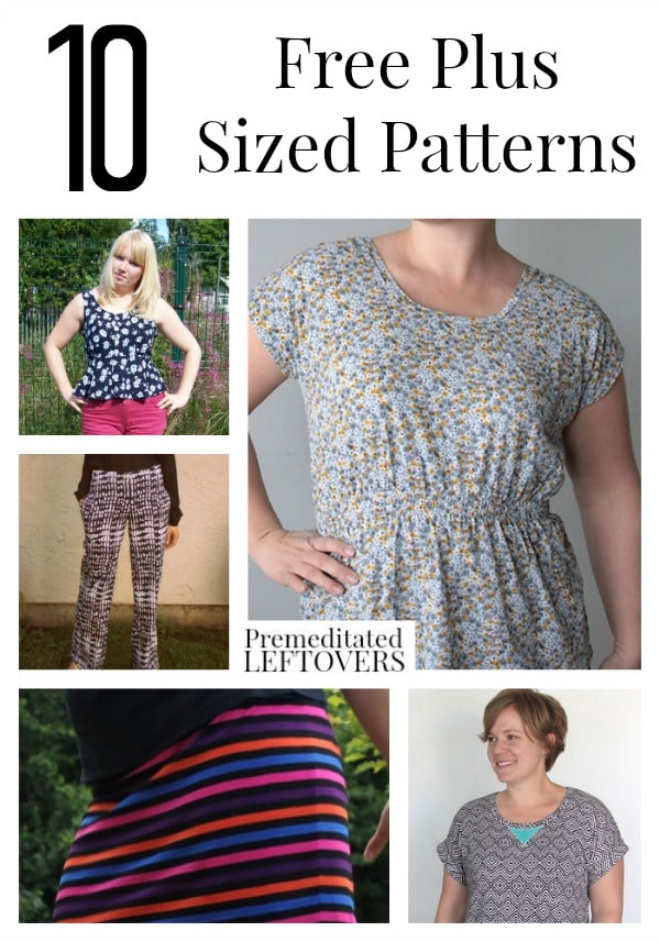 Agile image with free printable plus size sewing patterns