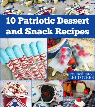 Patriotic dessert and snack recipes