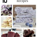 10 Unique Blueberry Recipes including blueberry smoothies, blueberry dinner ideas and ways to use up blueberries including how to freeze blueberries, too!eberry-fruit-leather/