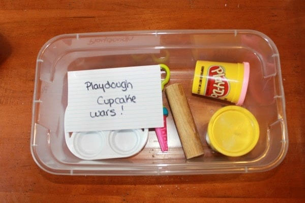 Playdough cupcake wars box