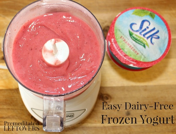 Easy homemade dairy-free frozen yogurt recipe using Silk dairy-free yogurt alternative