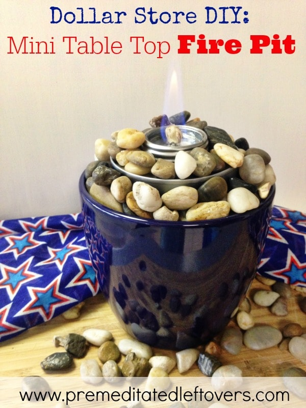 Easy Diy Tabletop Fire Pit Tutorial Using A Planter