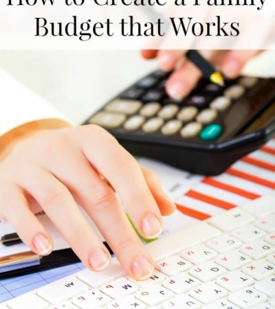 How to Create a Family Budget that Works including how to start saving money, how to cut back spending on bills, and how to use the envelope system.
