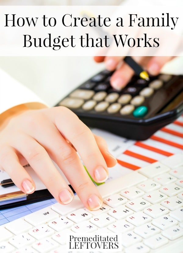 How to Create a Family Budget That Works, including how to start saving money, how to cut back spending on bills, and how to use the envelope system.