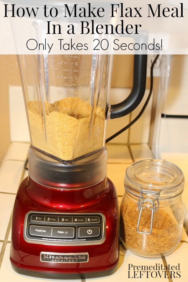 How to Make Flax Meal in a Blender: A quick and easy tutorial for making flax meal! Grind flax seeds in a blender to make your own flax meal or flax powder.