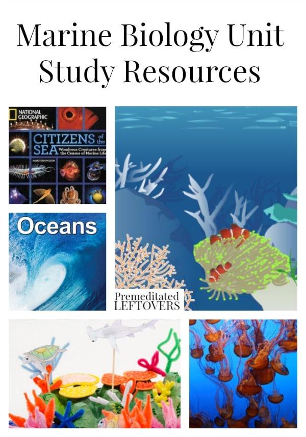 Marine Biology study subjects list