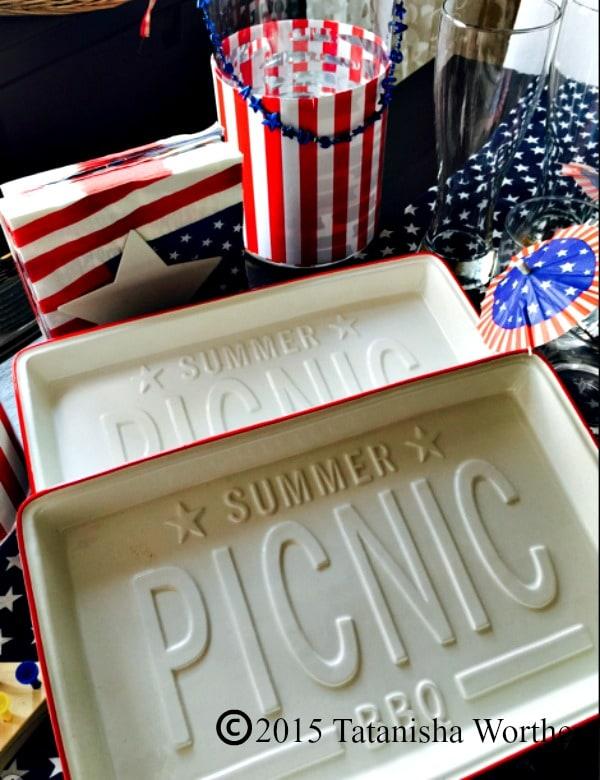 Summer Picnic Plates Table Setting