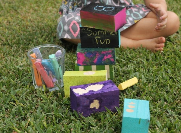 diy outdoor painted blocks tutorial