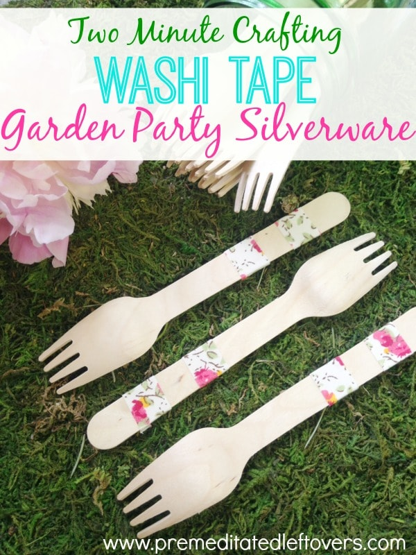 DIY Washi Tape Party Silverware - Here is a quick and easy tutorial for customizing your own party silverware with Washi tape.