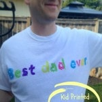Kid Printed Father's Day T-Shirt