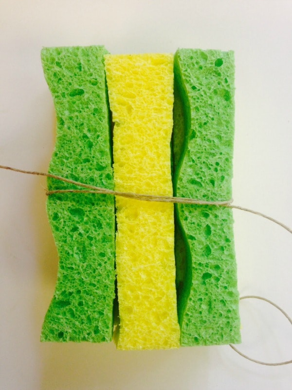 homemade sponge water bombs