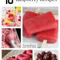 10 Amazing Raspberry Recipes including raspberry chocolate bark, raspberry donuts, raspberry ice cream and other easy raspberry recipes.
