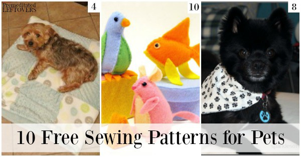 10 Free Sewing Patterns for Pets