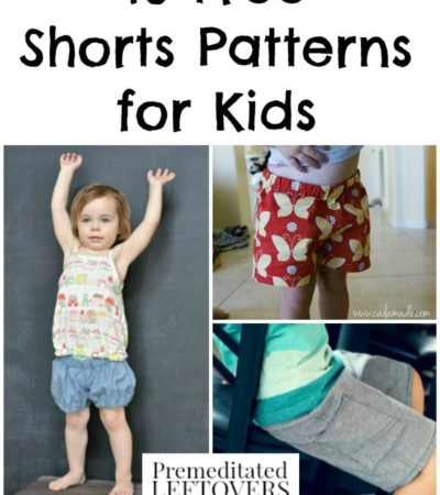 10 Free Shorts Patterns for Kids including shorts patterns for toddlers, free kids capri patterns, and more free patterns for boys and girls shorts.