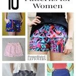 10 Free Shorts Patterns for Women including how to make cut off shorts, pleated shorts patterns, high waisted shorts and free shorts patterns for adults.
