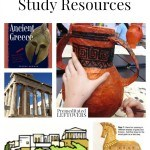 Ancient Greece Unit Study Resources including ancient Greece crafts, ancient Greece printables and videos and ancient Greece lesson plans for older kids.