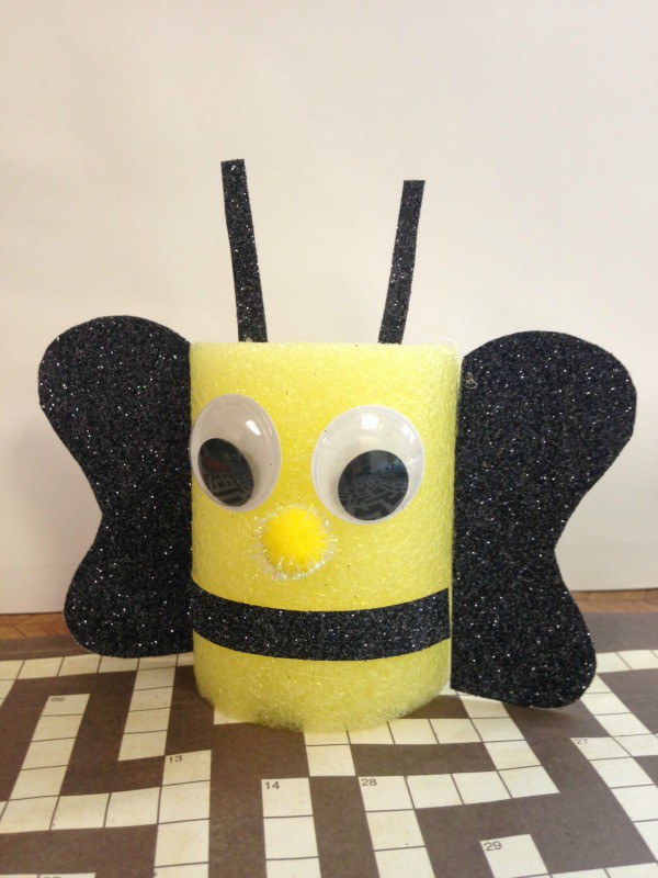 Pool Noodle Bumble Bee Craft Tutorial