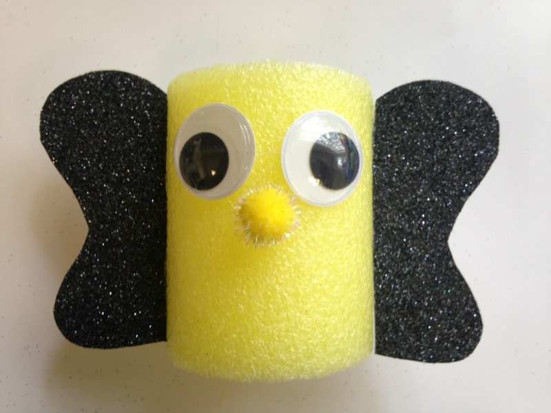 Pool Noodle Bumble Bee Craft