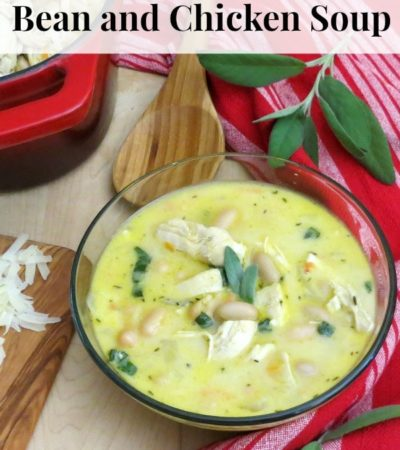Creamy Tuscan White Bean and Chicken Soup- Try this quick and easy creamy take on a hearty favorite with a Tuscan flair for a meal idea everyone will love.