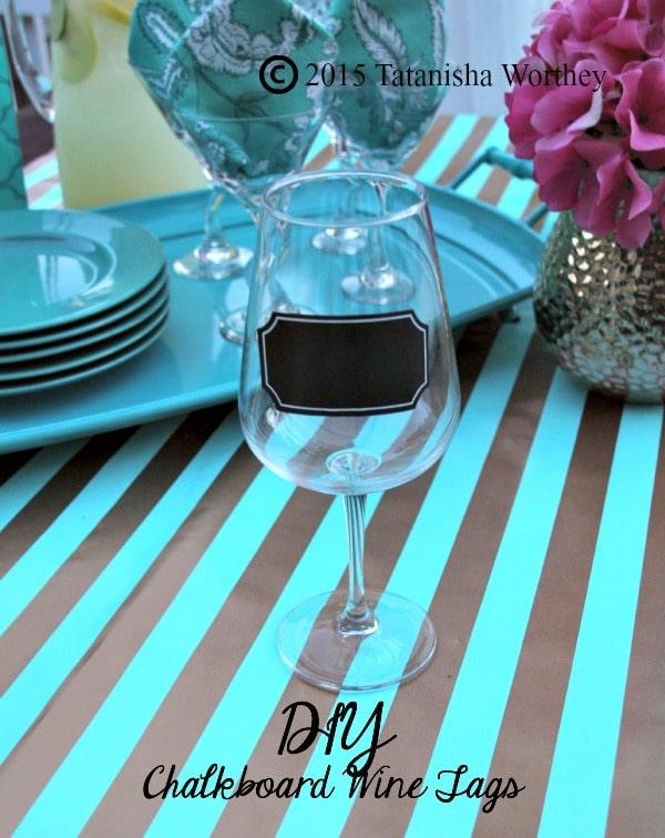 DIY Chalkboard Wine Tags Idea