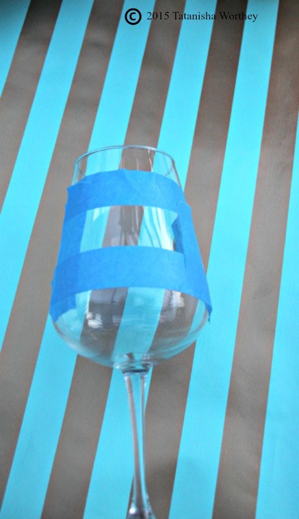DIY Chalkboard Wine Glasses Masking Tape