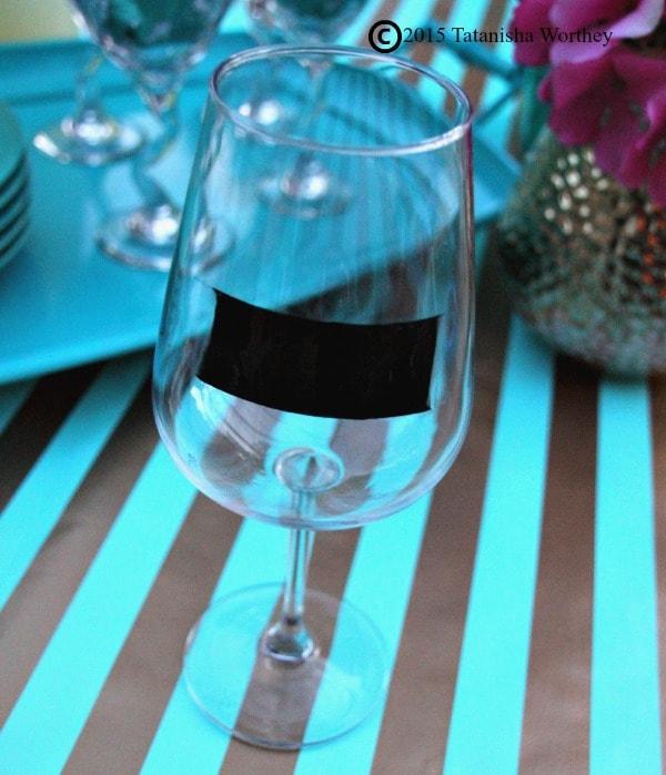 DIY Chalkboard Wine Glasses Handpainted