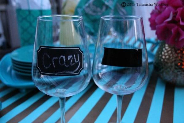 DIY Chalkboard Wine Glass Examples