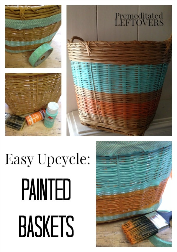 How to Paint a Basket - Here is an easy tutorial on how to paint a basket to take a basic basket and make a custom piece of home decor.