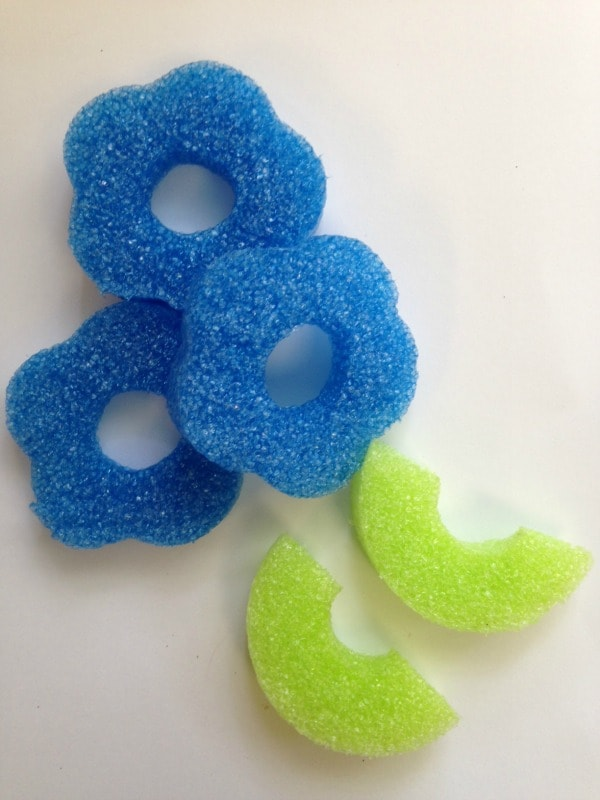 Pool Noodle Flower Craft Instructions